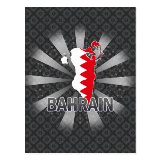 Bahrain Flag Map 2.0 Postcard