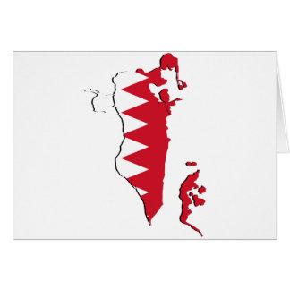 Bahrain Flag map BH Card