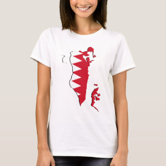 Bahrain Flag map BH T-Shirt