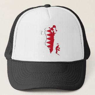 Bahrain Flag map BH Trucker Hat