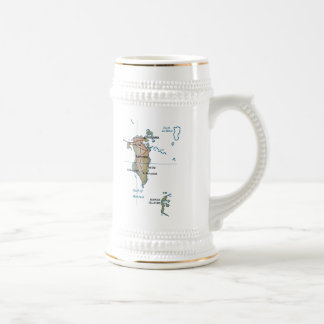 Bahrain Flag ~ Map Mug