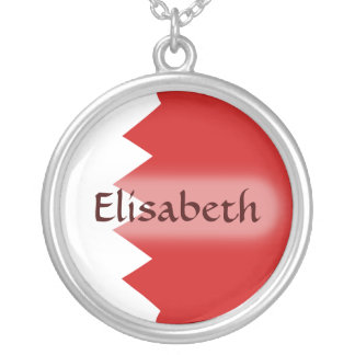 Bahrain Flag + Name Necklace