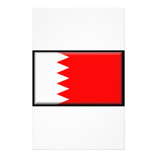 Bahrain Flag Personalized Stationery