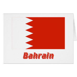 Bahrain Flag with Name Card