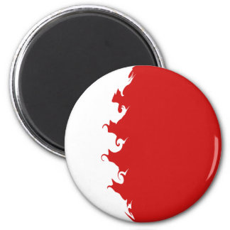 Bahrain Gnarly Flag 6 Cm Round Magnet