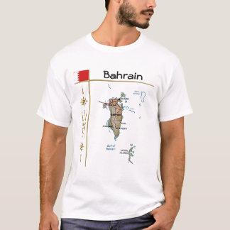 Bahrain Map + Flag + Title T-Shirt