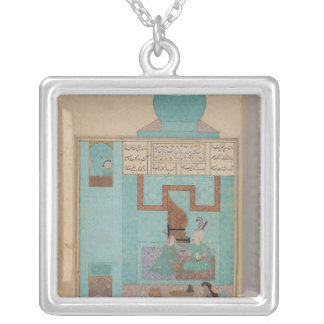 Bahram Visits a Princess in the Turquoise Silver Plated Necklace