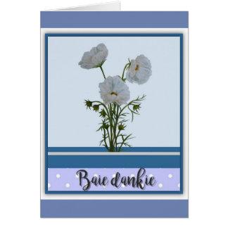 Baie dankie card