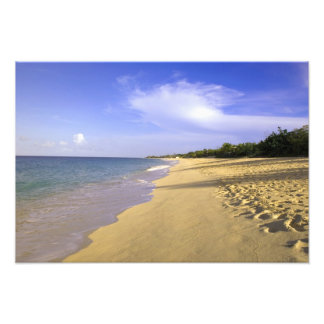 Baie Longue Long Bay beach, St. Martin, Photo Print