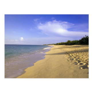 Baie Longue Long Bay beach, St. Martin, Postcard