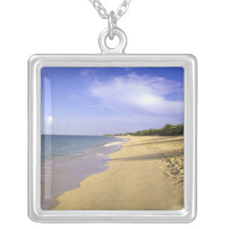 Baie Longue Long Bay beach, St. Martin, Silver Plated Necklace