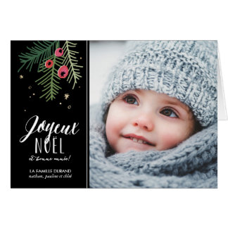 Baies Rouges | Joyeux Noël Greeting Card