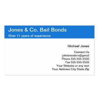 Bail Bonds Business Cards