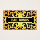 Bail Bonds Sunshine Damask Business Card