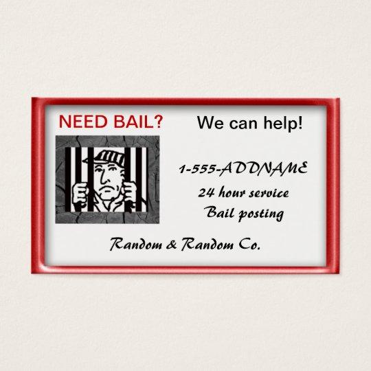 bail bondsperson business card