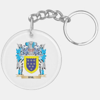 Bail Coat of Arms Double-Sided Round Acrylic Keychain