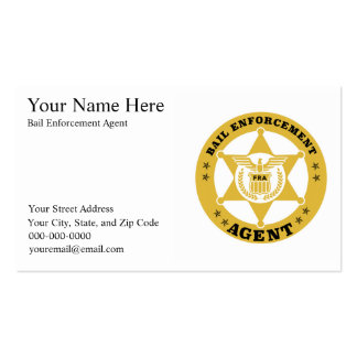 BAIL ENFORCEMENT AGENT Business card