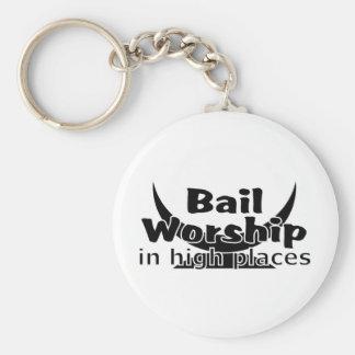 Bail Worship Greed Fest Basic Round Button Key Ring