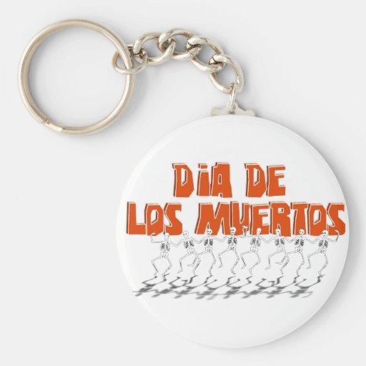 Bailando Para Dia De Los Muertos Key Chain