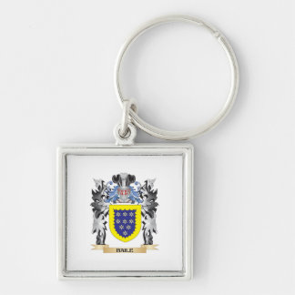 Baile Coat of Arms - Family Crest Silver-Colored Square Key Ring