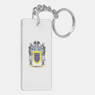 Bailes Coat of Arms - Family Crest Double-Sided Rectangular Acrylic Key Ring