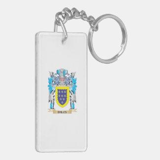 Bailes Coat of Arms Double-Sided Rectangular Acrylic Keychain