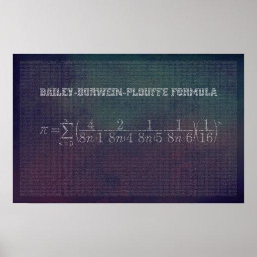 Bailey-Borwein-Plouffe Pi Formula - Math Poster