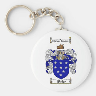 BAILEY FAMILY CREST -  BAILEY COAT OF ARMS BASIC ROUND BUTTON KEY RING