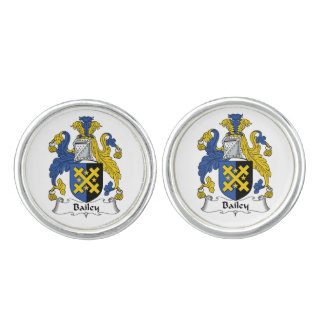 Bailey Family Crest Cuff Links