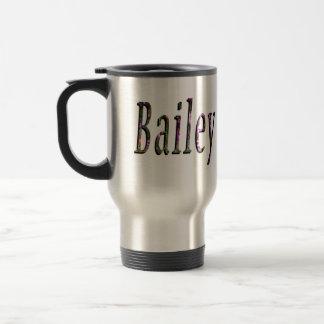 Bailey, Name, Logo, Travel Commuter Coffee Mug