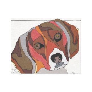 """Bailey the Beagle 14"""" X 11"""" Canvas Print"""