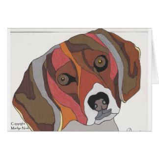 Bailey the Beagle Note Card