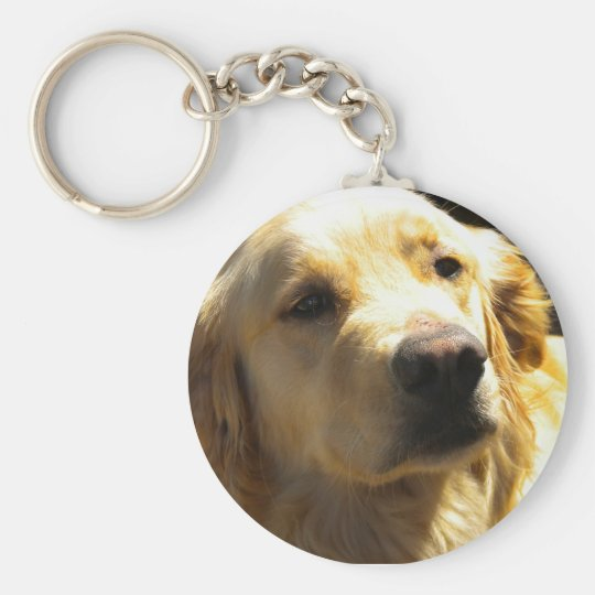 Bailey the Golden Retriever Keychain
