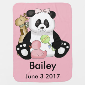 Bailey's Personalized Panda Baby Blanket