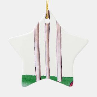 BAILS cricket, tony fernandes Ceramic Star Decoration