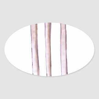 BAILS cricket, tony fernandes Oval Sticker