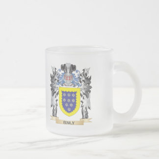 Baily Coat of Arms - Family Crest Frosted Glass Mug