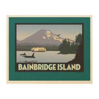 Bainbridge Island Retro-styled Poster Art