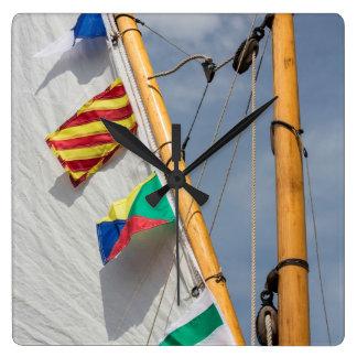 Bainbridge Island Wooden Boat Festival 3 Square Wall Clock