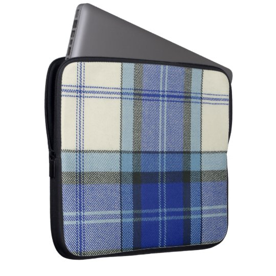 Baird Dress Blue Tartan Neoprene Laptop Sleeve