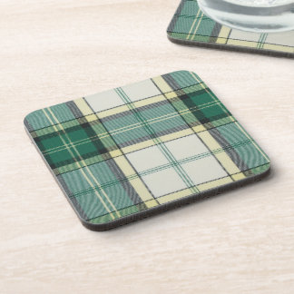 Baird Dress Green Tartan Cork Coaster 6 Pack