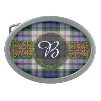 Baird Dress Tartan And Monogram Belt Buckles
