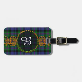 Baird Tartan And Monogram Luggage Tag