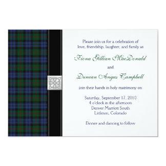 Baird Tartan Wedding Invitation