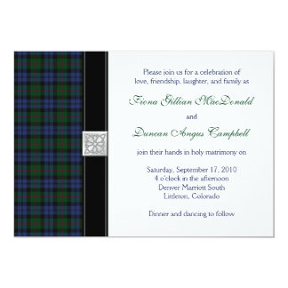 Baird Tartan Wedding Invitation