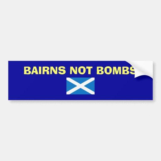 Bairns Not Bombs Scottish Independence Sticker Bumper Sticker