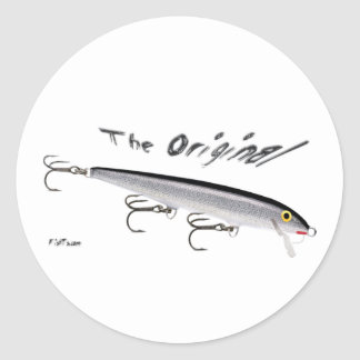 Baits from the Tackle/Gear Collections Round Sticker