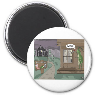 Baits Motel Funny Fishing Cartoon Gifts Tees Magnet