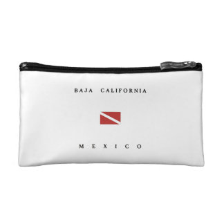 Baja California Mexico Scuba Dive Flag Makeup Bag
