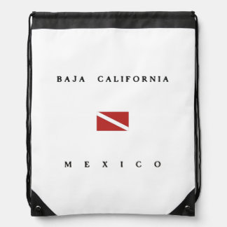 Baja California Mexico Scuba Dive Flag Rucksacks